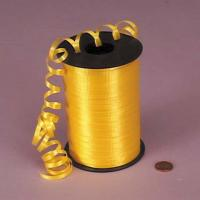 China PP Solid Embossed Yellow green Curling Ribbon 5mm X 500y  for gift decoration wholesale