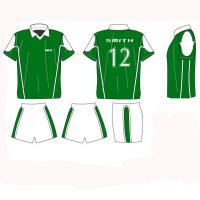 Cool max soccer youth uniforms shirts and shorts with collar football