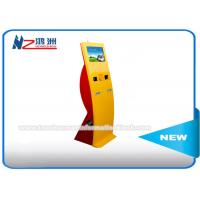 China Bent Design Utility Bill Self Service Payment Kiosk With Small Keybord 19 Inch wholesale