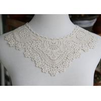 China Delicate Chemical Lace Collar Applique With Cotton Embroidered Floral For Neck wholesale