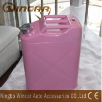 Quality Pink Costomized Color Metal Petrol Jerry Cans 5L/ 10L / 20L Capacity for sale