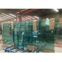 China 8mm/10mm/12mm Thick Tempered Safety Glass Door with Grooves / Holes wholesale