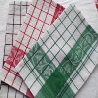 China Yarn Dyed Quick - Dry Kitchen Tea Towels / Cotton Dish Towels For Airplane Use wholesale