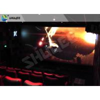 China Children Amusement 4D Cinema Movie Theater With Electric System Motion Seat CE wholesale
