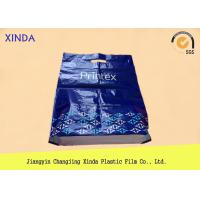 China Plastic HDPE customer logo design printed bags with die cut handle&side gusset wholesale
