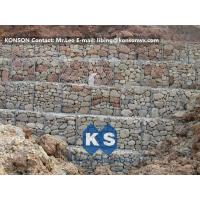 China Hexagonal Wire Mesh Gabion Retaining Wall with Polyethylene PE Coated Gabion Wire wholesale