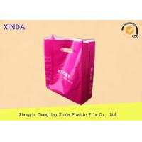China Customized up to 12 colors print PE die cut shopping plastic gift promotional bags wholesale
