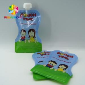 China Juice Drink Spout Pouch Bag / Reusable Baby Food Spout Pouch With Leak Proof Ziplock wholesale