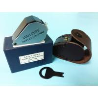 Buy cheap Glass 10x Magnification Jewellers Loupe With White Led Light from wholesalers