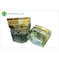 China Laminated Resealable Stand Up Pouch Packaging With Zipper For Tabacco wholesale