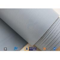 China 0.28mm Grey PVC Coated Fiberglass Clothing Plain Weave For Fireproof Tent on sale