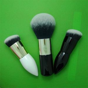China Waist Shape Cosmetics Blush Brush , Makeup Powder Brush Wood Handle Material wholesale