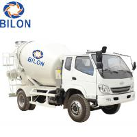 China 3m3 Concrete Mixer Truck With 4 Wheel Driver , 2 Wheel Steering wholesale