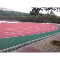 China Anti - Shock Polyurethane Rubber Running Track Surface / Jogging Track Material on sale