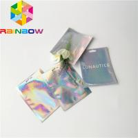 China Clear Front Foil Pouch Packaging Custom Hologram Rainbow Foil Smell Proof Mylar Bag wholesale