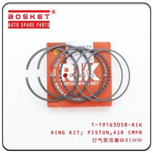 China 1-19163058-RIK 119163058RIK Air Compressor Piston Ring Kit For ISUZU 6WF1 CXZ EXR on sale