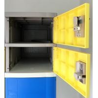 China Fitness Center Lockers 10 Comparts 1 Column , Strong Commercial Gym Lockers wholesale