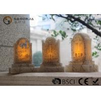 China Tombstone Shaped Halloween Led Candles With Color Changing Function wholesale