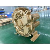 China 1.1kW Ultra High Pressure Ring Air Blower For Dental Suction /industrial central vacuum dust cleaner, Golden Color wholesale