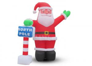 China Custom Outdoor Christmas Decoration LED Lights Inflatable Santa Claus For Home Backyard wholesale