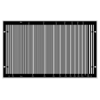 China 1200 Lines HD Sweep Test Chart Sineimage YE0231 For HDTV Cameras wholesale