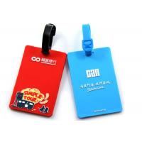 China Delicate Design Custom Plastic Luggage Tags Easy Cleaning Promotional Gifts wholesale