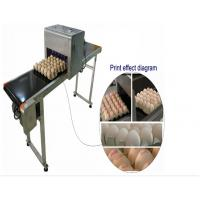 China Automatic Single Row Egg Printing Machine With Small Solvent Printer wholesale