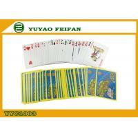 Buy cheap Yellow Blue Personalized Poker Playing Cards Paper Playing Cards from wholesalers