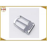 China Various Colors Noble Metal Belt Buckle , Solid Silver Color Belt Buckle wholesale