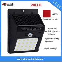 China IP65 PIR Solar Lights Motion Sensor 20LED 300lumens 4W Solar Garden Wall Light for Landscaping and Ilumination wholesale