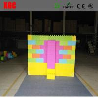 China 2018 Colorful hotsale kids building blocks plastic giant plastic blocks diffrent size toys gift outdoor bedroom wholesale