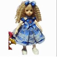 China Doll with colorful clothes and wool crocheted dress wholesale