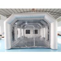 China 7x4x3m Carbon Filter Paint Inflatable Spray Booth / Portable Car Spray Booth Tent wholesale