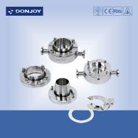 China Hygienic Aseptic Connection Stainless Steel Sanitary Fittings From 1-4 for tank bottom union on sale