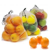 China Reusable Mesh Sleeve Plastic Polyester Mesh Kitchen Fruit / Vegetable Storage Bags on sale