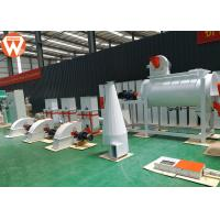 China Mash Small Cattle Feed Plant , 0.9-12mm Feed Processing Plant With Screener Machine wholesale