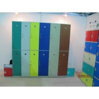 Quality 1810 * 310 * 460 mm Plastic Gym Lockers 10 Tier Yellow Door Safety / Ventilation for sale