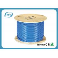 China 23 AWG Ethernet Cat 7 Lan Cable With 1000FT Indoor Dual Shielded Solid Copper wholesale