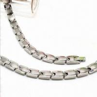 China Stainless Steel Necklace, Bio 3000 Gauss Magnet Germanium, FIR Negative Ion 4-in-1 wholesale