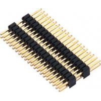 China 1.27mm Pin Header Connector Dual Row Double Plastic PA9T Black Pcb Pin Connector wholesale