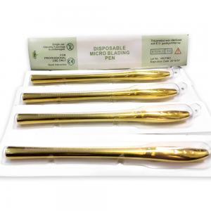 China Golden Luxury 45°Angle Blister Manual Pen With 9 12 14 17 18U Needle Single wholesale