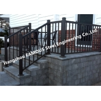 China Oxidation Corrosion Resistant Hotel Stair Hand Railings , Special Spraying Aluminium Stair Handrail wholesale