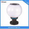 Buy cheap 10LED / 12LED / 16LED Globular Solar Pillar Gate Lamp Round Solar Fence Post Cap Light Can Use E27 Bulb for Garden Wall from wholesalers