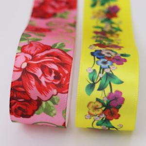 China custom ink printing ribbon logo print satin sash ribbon wholesale