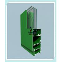 Anodized / Powder Coated Window Aluminum Profile Green Color ISO Certification