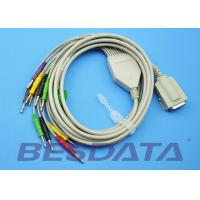 Quality Gray Color EKG Cable 10 Leads Banana 4.0mm AHA For Eclipse Elite Series for sale