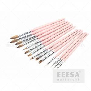 China Professional Nail Brush Set Wooden Handle Durable Long Working Life wholesale