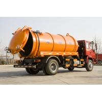 China 266 Hp Sewage Suction Tanker Truck With U Sectional External Stiffening Rings wholesale