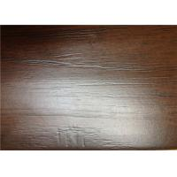 Quality Hand Scraped Laminate Floor Boards , Brown Wooden DIY Floating Floor for sale