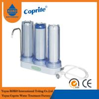 China Triple Filtration Three Stage Countertop Household Water Filter PP Activated Carbon wholesale